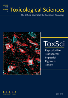 Toxicological Sciences (ToxSci) July 2019 front cover iamge